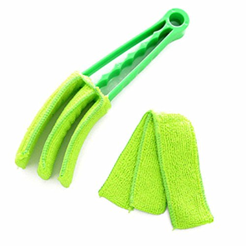 Home Office Microfiber Multi-functional Soft Window Shades Blinds Shutter Air Conditioning Outlet Dust Cleaning Brush Cleaner Green