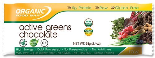Organic Food Bar - Organic Food Bar Active Greens Chocolate, 12 bar