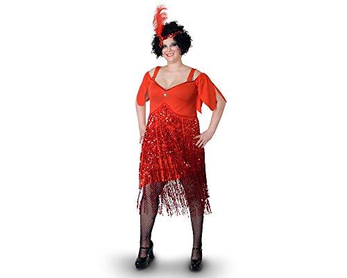 Sunnywood Women's Lava Diva Plus Size Flapper, Red -