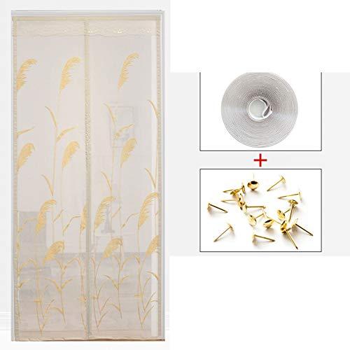Aich Mesh Magnetic Screen Door,Mosquito Fiberglass Heavy Duty Self Sealing Magnetic Screen Door Pet and Kid Friendly French Door Sliding Patio Door Double Door-g 110x210cm(43x83inch)