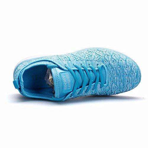 44 Größe Wanderhalbschuhe Atmungsaktives Turnschuhe Mesh Rutschfeste Sneaker 36 Tomate Damen Himmelblau Kleine Walkingschuhe BCwqSPx