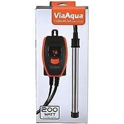 ViaAqua 200 Watt Titanium Heater (NEW STYLE)