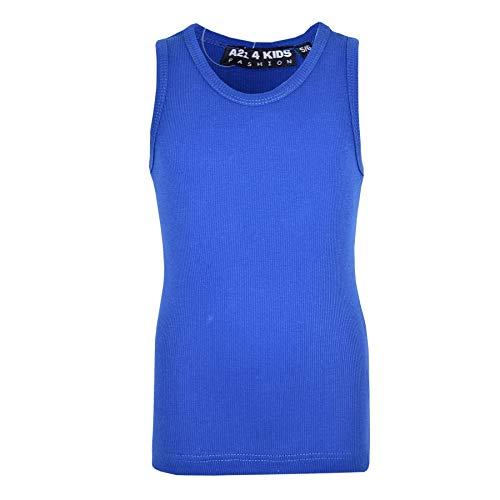 Âge 8 13 Nervure T 10 11 6 Bleu 5 Kids Coton 12 Filles 4 Mode Tank 100 7 Shirts Top Roi Ans Enfants Tops A2z 9 Gilet Designer IOZHwSWxq