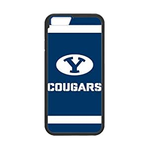 Cool Generic Custom Design Brigham Young University NCAA BYU Cougars Teams Logo Plastic and TPU (Laser Technology) Case Cover for iPhone6