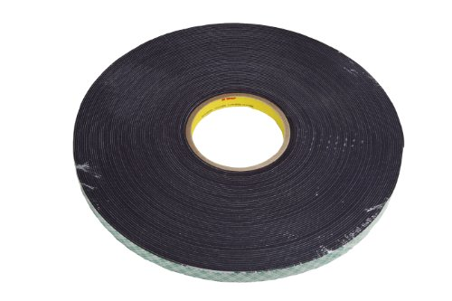 3M Double Coated Urethane Foam Tape 4056 Black, 1 in x 36 yd 1/16 in (Pack of 1) by 3M