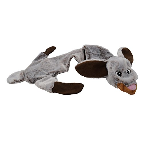 Hydex Pets Puppy Squeaky Plush Dog Toys-Rabbit Skinneeez No