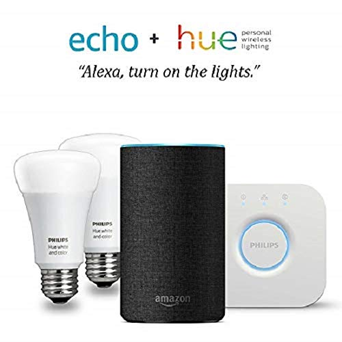 (Echo (2nd Gen) - Charcoal with Philips Hue White and Color Smart Light Bulb Starter)