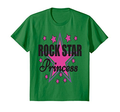 Price comparison product image Kids Cute Rock Star Princess T-shirt 8 Kelly Green