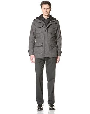 Calvin Klein Men's Wool Coat with Hood