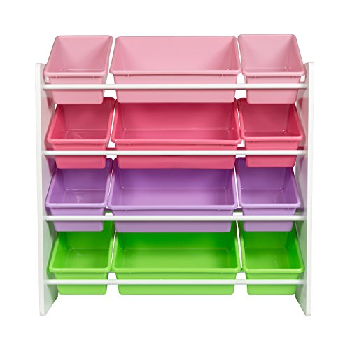 41cypi82lHL - Honey-Can-Do SRT-01603 Kids Toy Organizer and Storage Bins, White/Pastel