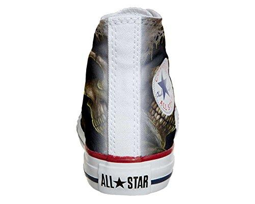 Converse PERSONALIZZATE All Star Hi Canvas, Sneaker Uomo/Donna (Prodotto Artigianale) Morte Horror