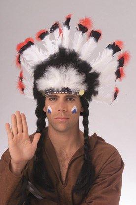 Rubies Native American Indian Chief Costume Feather Headdress (Indian Chief Kostüm Zubehör)