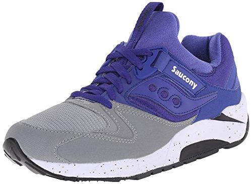 Saucony Originals Men's Grid 9000 Sneaker,Grey/Blue,12 M US