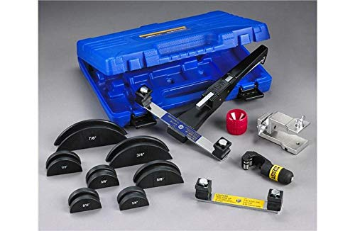 YELLOW JACKET 60325 Deluxe Ratchet Hand Bender Kit, Includes The Reverse Bending Mandrel (Hvac Hand Tool Kit)