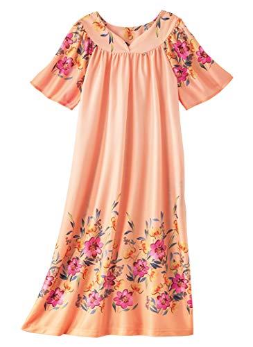 (AmeriMark Lounger House Dress with Pockets for Women Muu Muu Nightgown Plus)