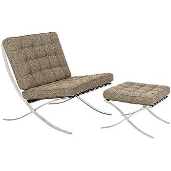 Amazon Com Modern Barcelona Chair White Lounge