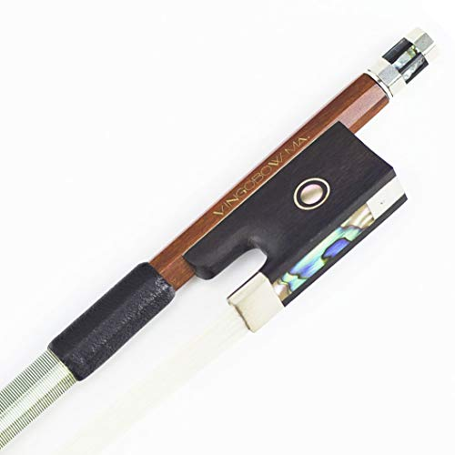 VingoBow 4/4 Stunning Pernambuco Violin Bow, MELLOW and SWEET Tone, STRAIGHT and Well BALANCED For Professional Player