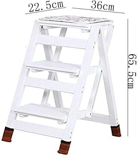 GYX Taburete, taburete plegable plegable de tres capas Taburete de doble uso Escalera pequeña de madera para uso doméstico Escalera de pie de flores multifunción Escalera de contracción de madera mac: Amazon.es:
