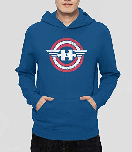 Captain Autism Hoodie, autism awareness month, autism sweatshirt, autism mom shirt, superhero autism shirt, S-5XL (Women Xxxl North Coat Face)