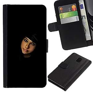 Protector de cuero de la PU de la cubierta del estilo de la carpeta del tirón BY RAYDREAMMM - Samsung Galaxy Note 3 III - Buscando contactos
