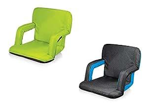 Picnic tiempo Ventura portátil asiento reclinable–verde y las olas, juego de 2