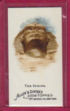 2008 Topps Allen and Ginter Mini Ancient Icons #A5 The Sphinx