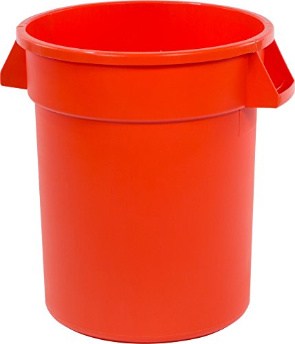 Carlisle 34102024 Bronco Round Waste Container Only, 20 Gallon, Orange (Can Trash Orange)
