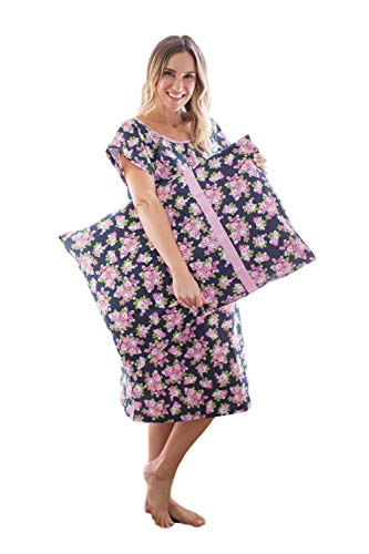 Gownies - Labor and Delivery Hospital Gown and Matching Pillowcase-Labor Kit (Small/Medium, Eve)