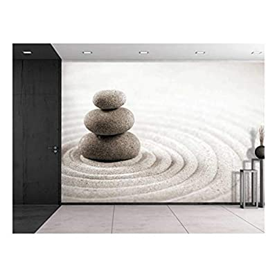 Rocks Over a Rippled Sand Effect Wall Mural, Professional Creation, Majestic Creative Design