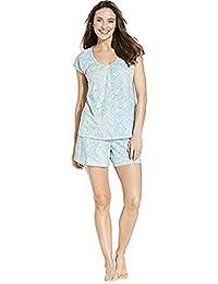 Lauren Ralph Lauren Short Sleeve Top And Short Set Wheaton Paisley XS