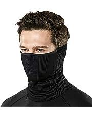 TSLA Unisex (Pack of 1, 2) Winter Neck Warmer Gaiter, Lightweight Half Balaclava, Windproof Face Mask for Ski Snowboard Outdoor Sports