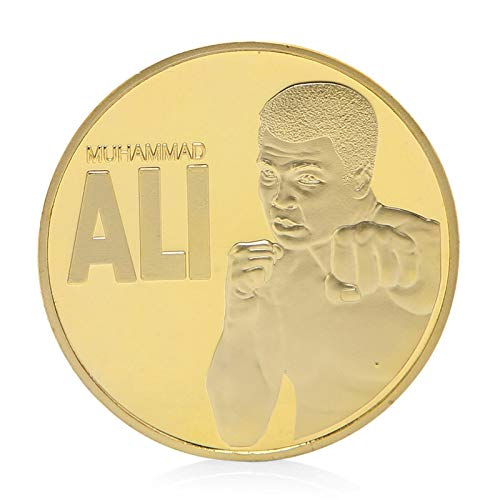 Non-currency Coins - The Boxing Champion Of World Muhammad Ali Gold Plated Commemorative Coin Token - Plastic Metal Champion Non-currency Silver Coin Coin Coin Cup Token Token The Shirt ()