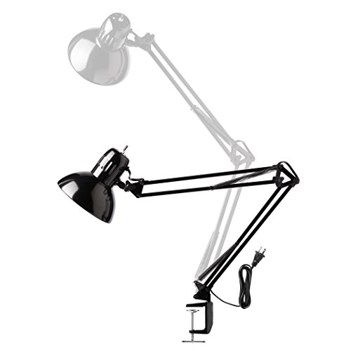 Globe Electric 56963 32'' Multi-Joint Metal Clamp Black Desk Lamp, Black by Globe Electric (Image #4)'