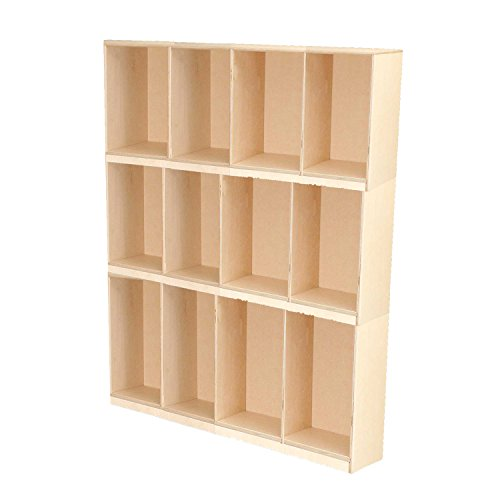 Wood Designs 46430 Open Stack Locker, Three (Stacking Open Lockers)
