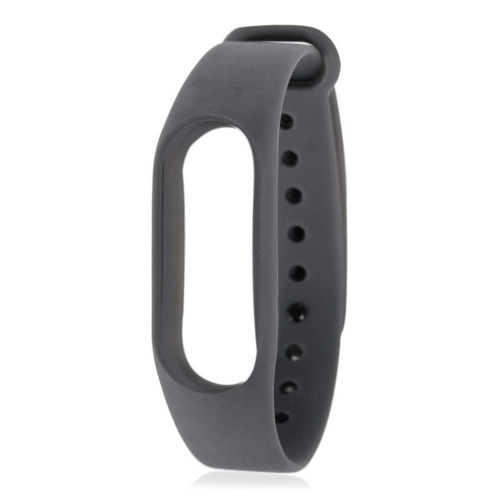 JiaMeng para Xiaomi MI Banda 3, reemplazo Suave de la Pulsera de Wristband de la Correa de muñeca de TPU para XIAOMI MI Band (Gris,tamaño Libre): Amazon.es: ...