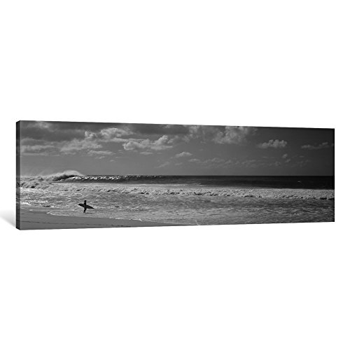 iCanvasART 1 Piece Surfer Standing on The Beach, North Shore, Oahu, Hawaii, USA Canvas Print by Panoramic Images, 1.5 by 48 by 16-Inch by iCanvasART