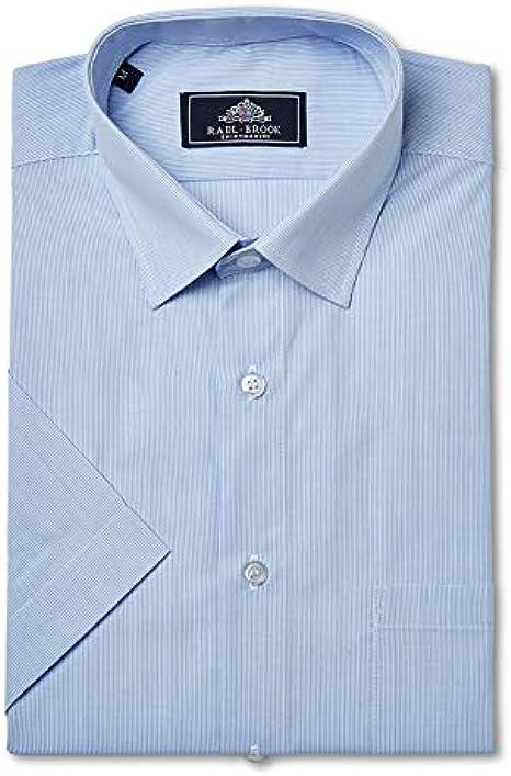Rael Brook Camisa de manga corta a rayas de ajuste clásico ...
