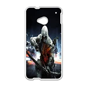 HTC One M7 phone cases White Assassin's Creed cell phone cases Beautiful gifts UREN2413132