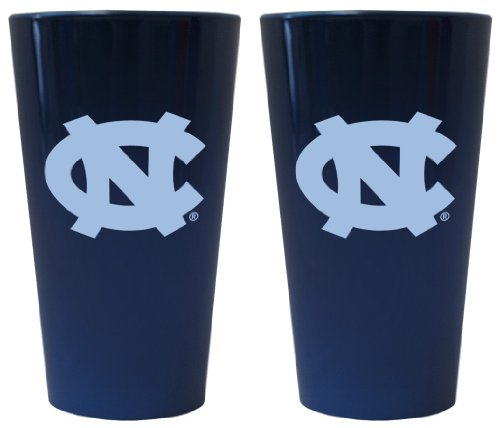 (Boelter Brands North Carolina Tar Heels Lusterware Pint Glass Set)