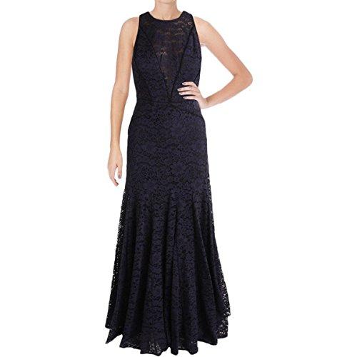 - Vera Wang Women's Lace Gown, Navy, 2