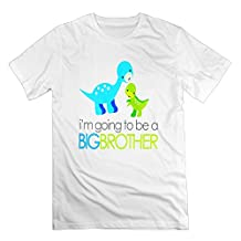Men Cool Dinosaur I'm Going To Be A Big Brother T Shirt