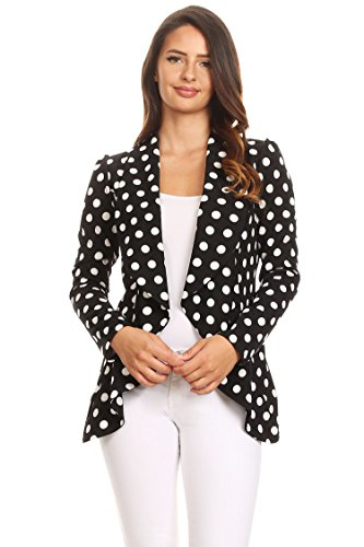 Women's Women's Stretch Long Sleeves Open Front Blazer/Made in USA (S-3XL)