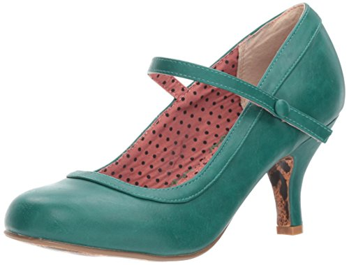 Bettie Page Women's Bp320-bettie Spectator Pump, Green, 7 M US