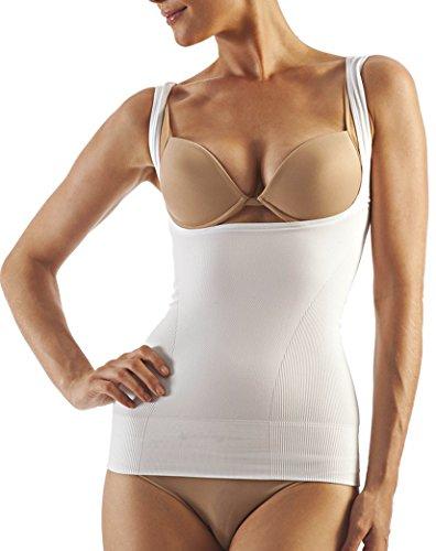 coppes open modellante modellante Bianco Canotta contenitiva senza seno maggiorato up senza cuciture aperta tOFaU