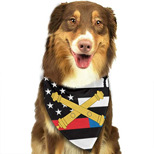 HJKH PJKL US Army Field Artillery Logo Pet Dog Puppy Cat Neck Scarf Bandana Collar Neckerchief Mchoice - Any - Dog Logo Bandana
