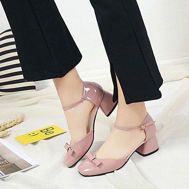 LvYuan Mujer-Tacón Robusto-Confort-Sandalias-Vestido Informal-PU-Negro Marrón Rosa Gris Pink