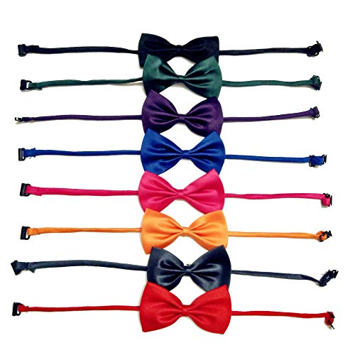 Accessory Tie Bow (ATITOWEL 8 Pack Super Cute Cat Dog Bows Adjustable Dog Bow Tie Cat Bow Tie Detachable Bow-Knot Dog Cat Accessories Gift)