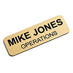Custom Engraved Name Tag Badges - Person...