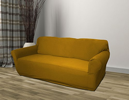 Kashi Home Stretch Jersey Slipcover Gold, Form Fitting (Sofa) price