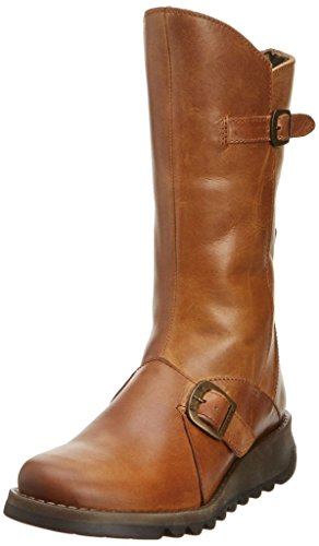 #Fly London Mes 2 Leather Womens Mid Calf Boots Camel